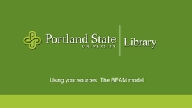 Thumbnail for entry Using your sources: The BEAM Research Model