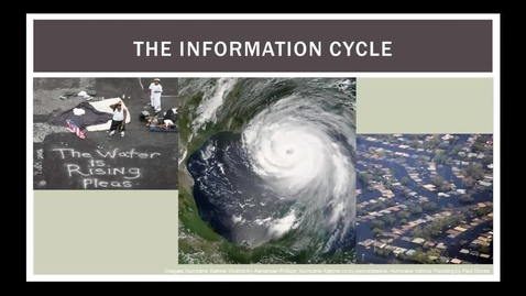Thumbnail for entry The Information Cycle