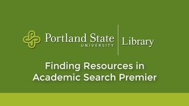 Thumbnail for entry Finding Resources in Academic Search Premier