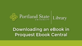 Thumbnail for entry Downloading in Proquest Ebook Central