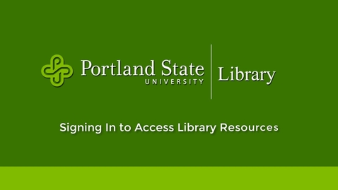 Thumbnail for entry Signing in to Access Library Resources
