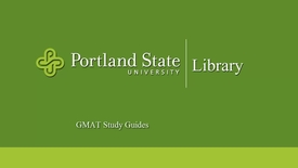 Thumbnail for entry GMAT Study Guides