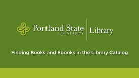 Thumbnail for entry Finding Books and Ebooks in the Library Catalog