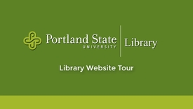 Thumbnail for entry PSU Library Website Tour