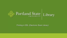 Thumbnail for entry Printing in EBL (Electronic Book Library)
