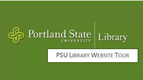 PSU Library Website Tour