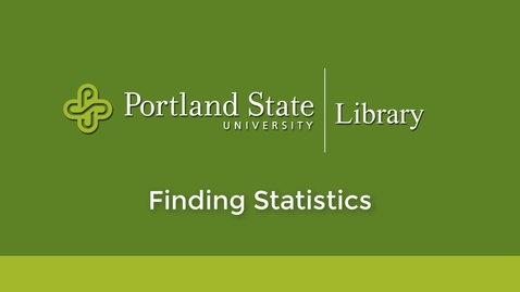 Thumbnail for entry Finding Statistics
