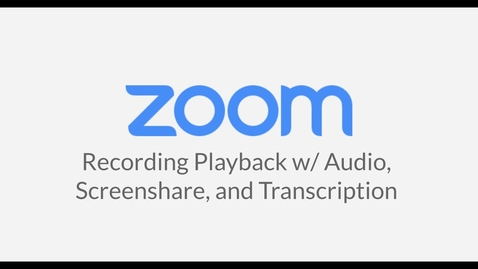 Thumbnail for entry Recording Playback w/Audio, Screenshare and Transcription