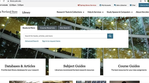 Thumbnail for entry Finding Resources Assigned for your Course in the Library Catalog