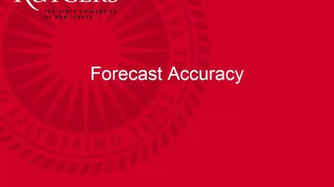 Thumbnail for entry Demand Management - Simple Forecasting Part 2