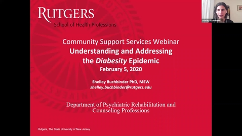 Thumbnail for entry Understanding and Addressing Diabesity (2/5/21)