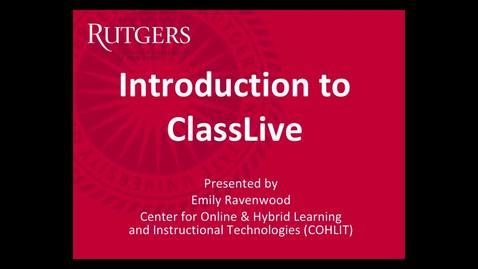 Intro to ClassLive