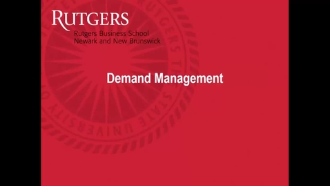 Thumbnail for entry Demand Management - Introduction
