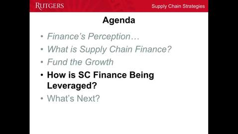 Thumbnail for entry Supply Chain Finance - Part 3