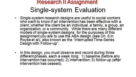 Thumbnail for entry MSW 595_Single-system Assignment