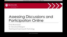 Thumbnail for entry Assessing Discussions and Participation Online