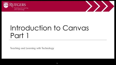 Intro to Canvas Part 1 of 4