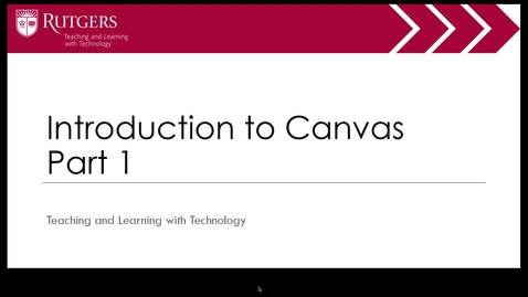 Thumbnail for entry Intro to Canvas Part 1 of 4