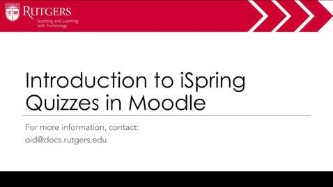 Thumbnail for entry Moodle - iSpring Quizzes
