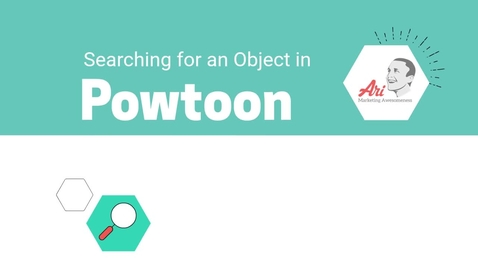 Thumbnail for entry PowToon - 7 - Searching for an Object