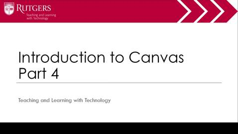 Intro to Canvas Part 4 of 4