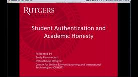 Thumbnail for entry Authentication and Academic Honesty
