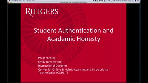 Authentication and Academic Honesty