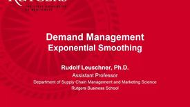 Thumbnail for entry Demand Management - Exponential Smoothing Part 1.mp4