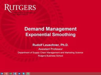 Demand Management - Exponential Smoothing Part 1 mp4