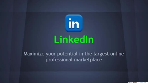 Thumbnail for entry LinkedIn Overview