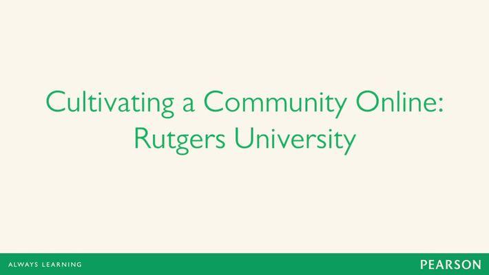 Dr. Bittmann - Ensuring the Rutgers Experience