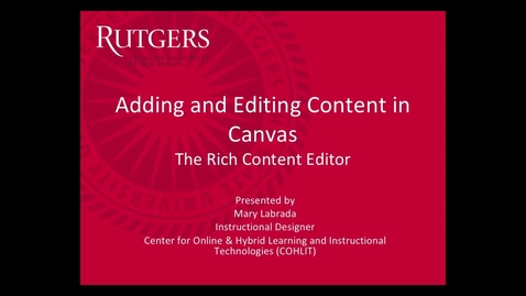 Thumbnail for entry Canvas - Adding Editing Content
