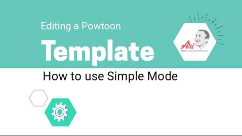 PowToon - 4 - How to Edit a Template