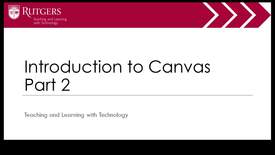 Thumbnail for entry Intro to Canvas Part 2 of 4