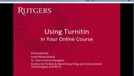 Thumbnail for entry Using Turnitin in your Online Course