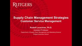 Thumbnail for entry Customer Service Management - Part 1