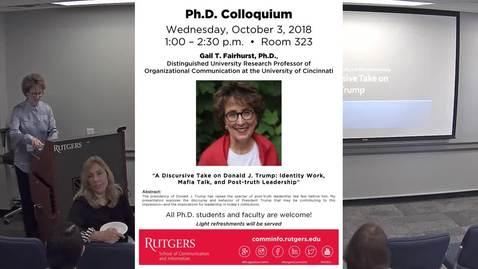 PhD Colloquium Gail T Fairhurst
