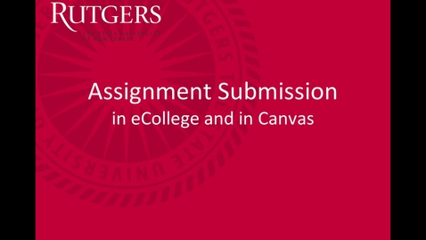 Thumbnail for entry Dropbox vs Assignment Submission