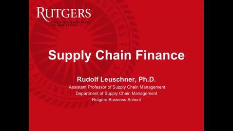 Supply Chain Finance -Part 1