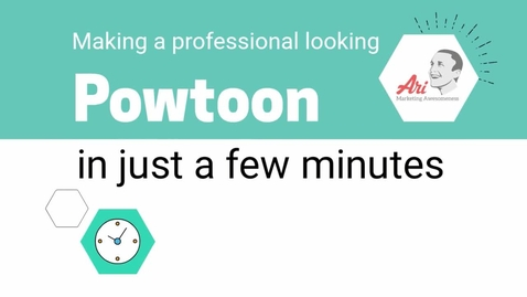 Thumbnail for entry PowToon - 1 - Making a Professional Looking Powtoon