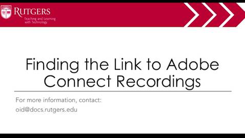 Thumbnail for entry Moodle - Finding the Link to Adobe Connect Recordings