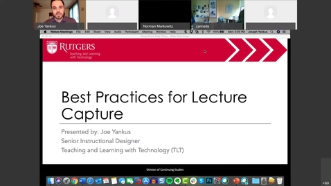 Thumbnail for entry Best Practices in Lecture Capture: Mar. 16 Session