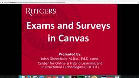 Thumbnail for entry Canvas Exams and Surveys