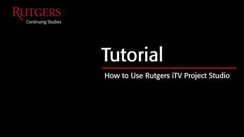 iTV Project Studio Tutorial V3