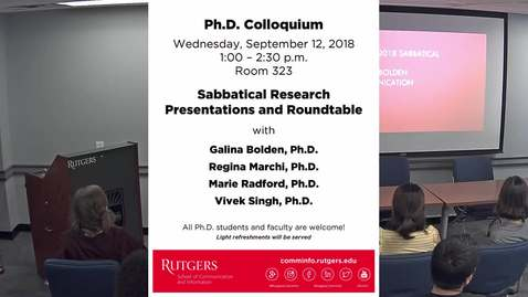 091218 PhD Colloquium Sabbatical Research