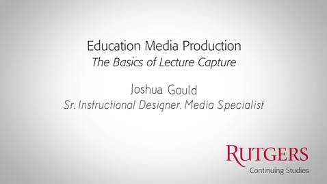 Basics of Lecture Capture Polished
