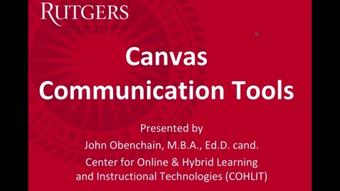 Thumbnail for entry Canvas Communication Tools