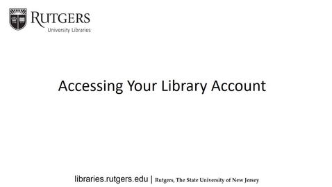 Thumbnail for entry Accessing your Library Account