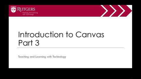 Intro to Canvas Part 3 of 4