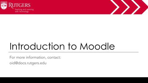 Thumbnail for entry Moodle - Intro to Moodle